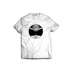 Tričko biele s čiernobielym logom veľkosť XL