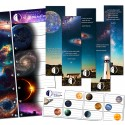 Stickers and bookmarks - space