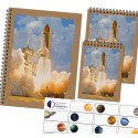 Set of notepads A5 - A7 and stickers - rocket