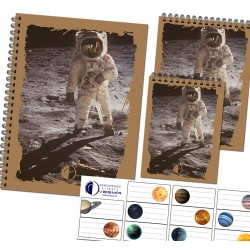 Set of notepads A5 - A7 and stickers - astronaut