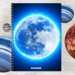 Zošit špirálový A5 linajkový – ASTRO mesiac