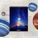 Špirálový blok A6 – ASTRO hviezdy