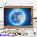 Blok s gumičkou A6 linajkový - ASTRO mesiac