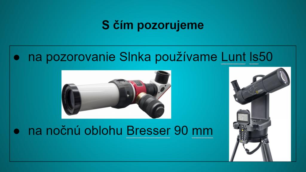 Teleskopy združenia Slovenské planetáriá 2016