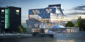 Moderná architektúra planetáriá dotvára námestie