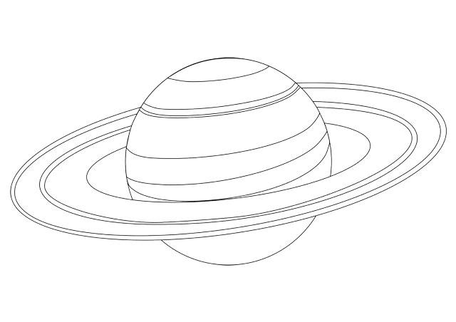 Omaľovánky - Saturn (preview)