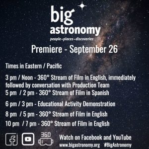 Premiéra filmu Big Astronomy: People, Places, Discoveries